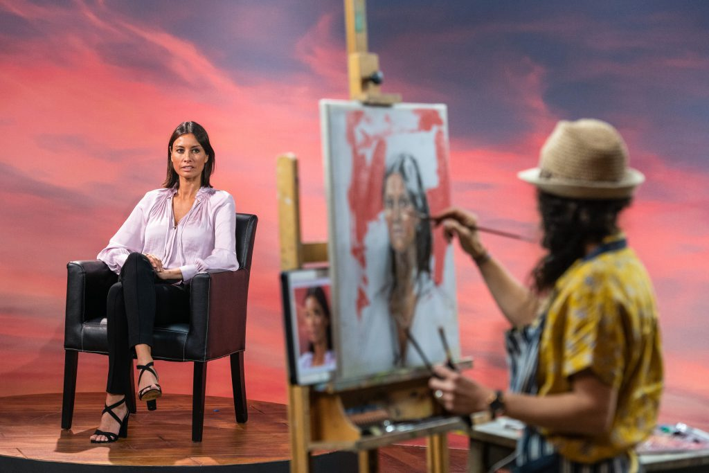 Naila Hazell painting Melanie Sykes