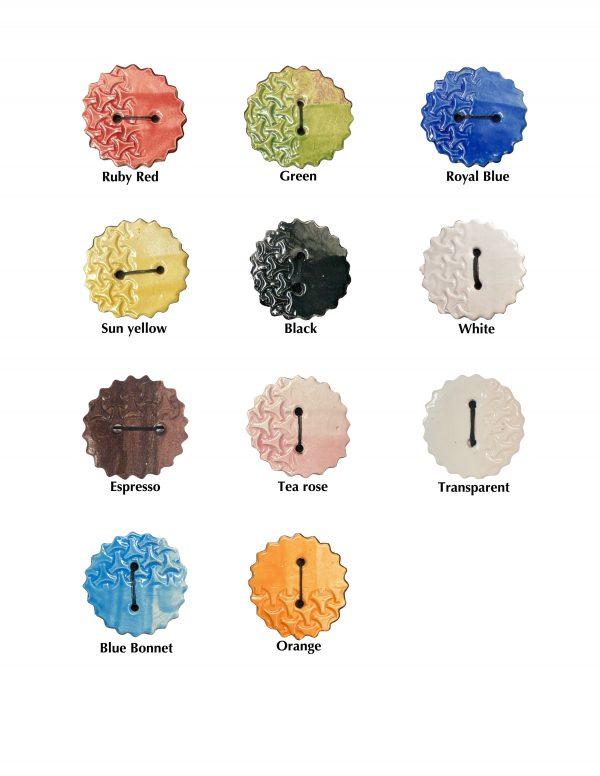 Glaze colours