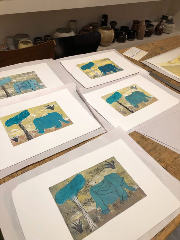 Printmaking with the etching press